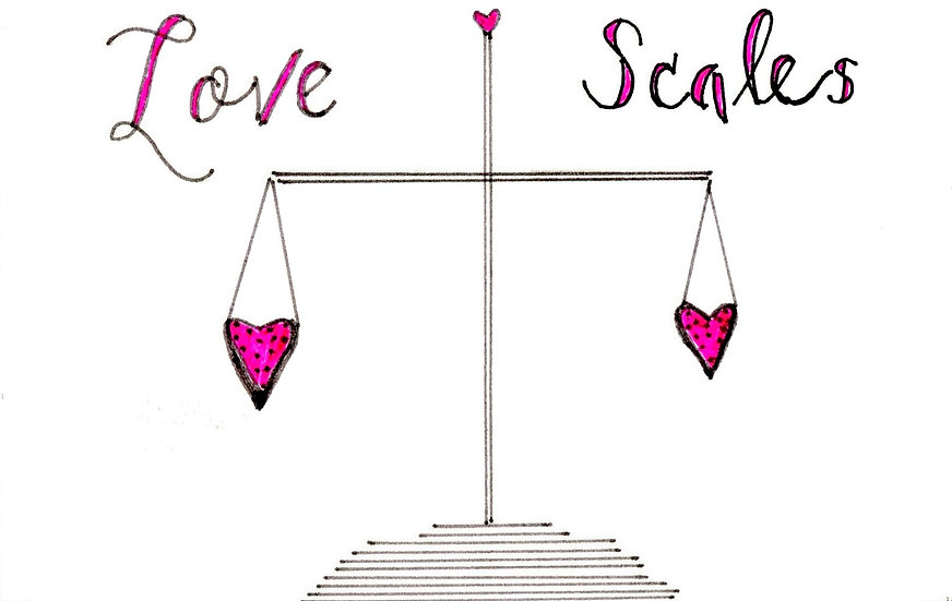 Love Scales Valentine's Card  (Pack of 6)