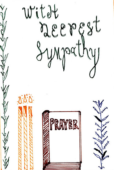 """With Deepest Sympathy"" Prayer Notecard (Pack of 6)"