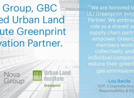 Nova Group Named ULI Greenprint Innovation Partner
