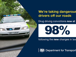 Improved screening tests leading to increased Drug driving convictions.