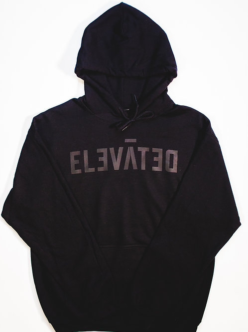 "ELEVĀTED Hoodie | ""Black on Black"""