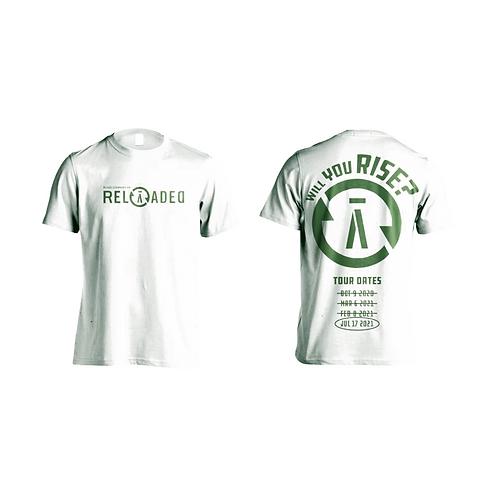 RELOĀDED Tour T-Shirt 2021 - White & Green
