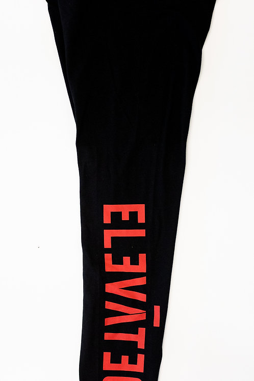 ELEVĀTED Leggings | Black & Red
