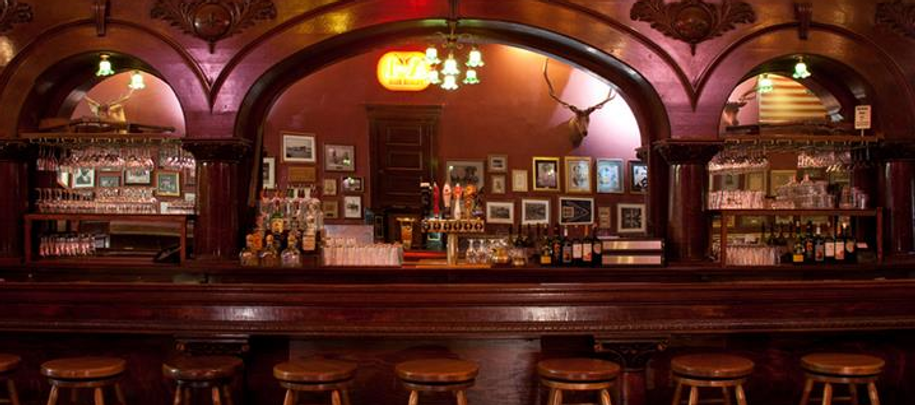 Original bar from 1877, saved from The Whiskey Row fire