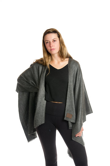 Slate - 3in1 Alpaca Wrap