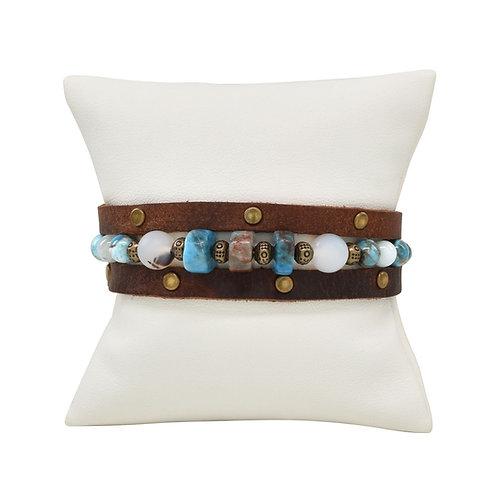Ocean Bronze Wrap Bracelet