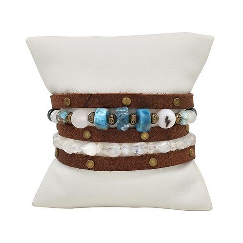 Picobello Ocean Wrap Bronze Bracelet