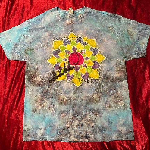 """XL one of a kind tie-dye """"Take Me"""" t-shirt"""