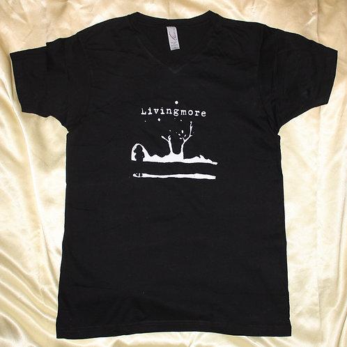 Small Original Livingmore Shirt - Black V Neck