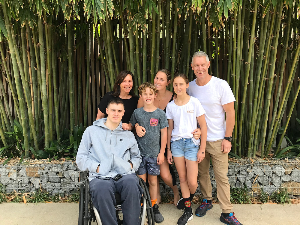 Emma and husband Nick with, from left, Will, 18, Gus, 10, Tess, 20, and Meg, 13.