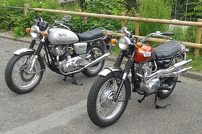 Norton Command and Triumph 500
