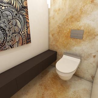 Toaleta pre hostí | design CADFACE