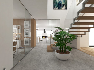 Open-plan living area | by CADFACE