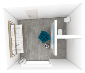 Main bathroom - layout | by CADFACE