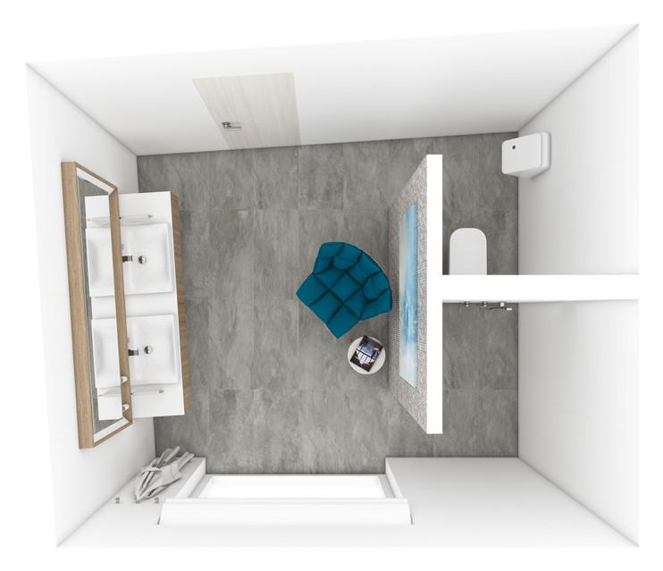 Hlavná kúpeľňa - pôdorys | design CADFACE