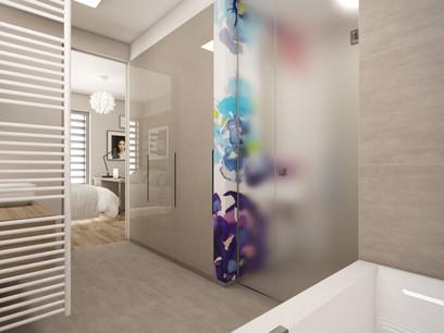 Kúpeľňa prepojená so spálňou   design CADFACE