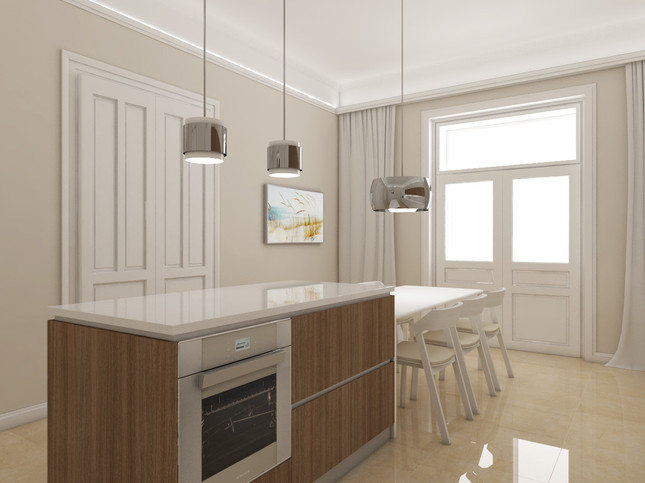 Luxury apartment - kitchen   by CADFACE