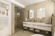 Fully equipped bathroom for two teenage athletes | by CADFACE