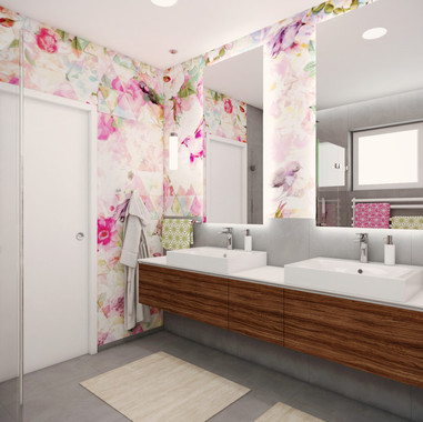 Colourful bathroom for twins | by CADFACE