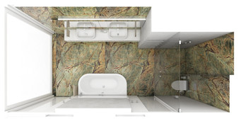 Master suite bathroom - layout | by CADFACE