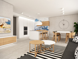 Starter apartment for a young family | by CADFACE