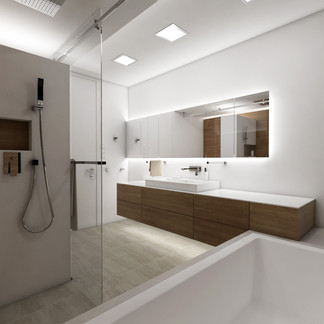 Elegant family bathroom with a smart layout | by CADFACE