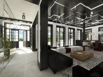 Extravagant interior with traditional references | by CADFACE