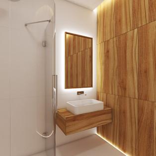 Hosťovská kúpeľňa | design CADFACE
