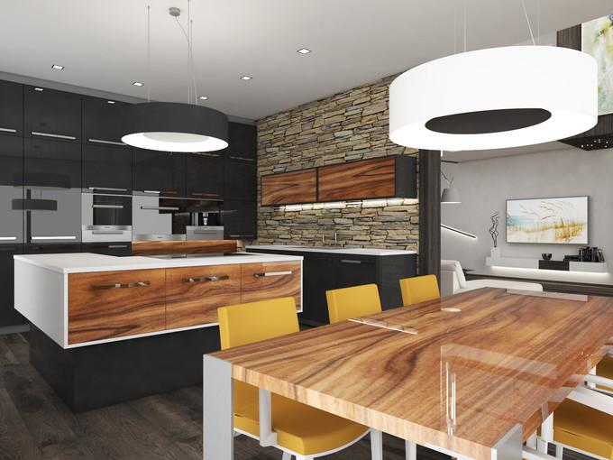 Čierna kuchyňa | design CADFACE