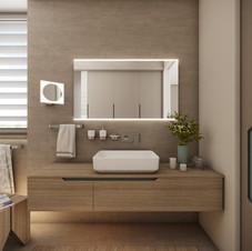 Elegant bathroom dressed in natural tones | by CADFACE