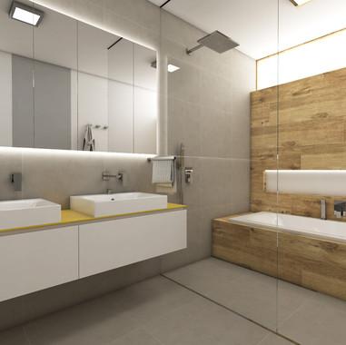 Veľká kúpeľňa pre štvorčlennú rodinu | design CADFACE