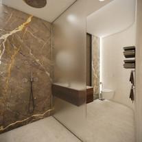 Luxury home gym bathroom   by CADFACE