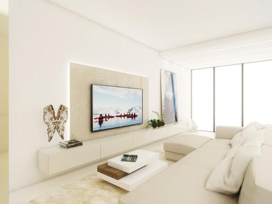 Obývacia izba s kuchyňou   design CADFACE