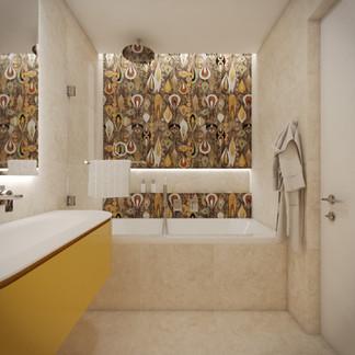 Kúpeľňa prepojená s detskou izbou | design CADFACE