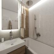 Tiny bathroom floral-decor wall tiles   by CADFACE