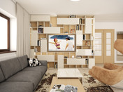 Modern kitchen & living room makeover   by CADFACE