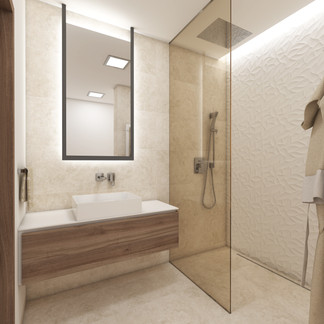 Elegant bathroom with a walk-in shower | by CADFACE