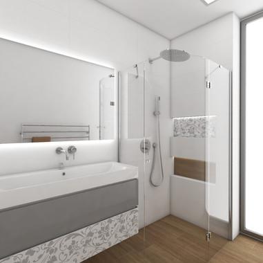 Elegantná kúpeľňa pre mladú slečnu | design CADFACE