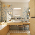 Kids' bathroom designed in scandinavian style | by CADFACE