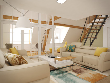 Living room concept without the TV | by CADFACE