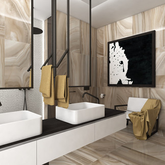 Luxury bathroom combining modern and traditional | by CADFACE