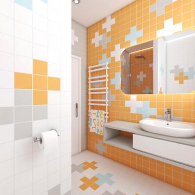 Hravá kúpeľňa pre malých počtárov | design CADFACE