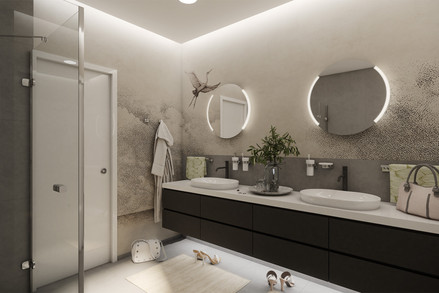 Chic bathroom for two young ladies   by CADFACE