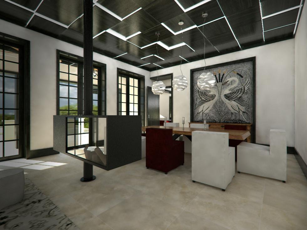 Obývacia izba prepojená s terasou   design CADFACE
