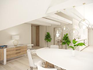 Obývačka s kuchyňou a jedálenským kútom | design CADFACE