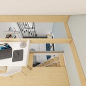 Mezonetová pracovňa v spálni rodičov   design CADFACE