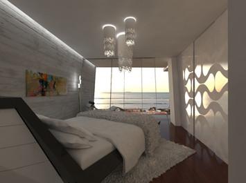 Spálňa s výhľadom na more   design CADFACE
