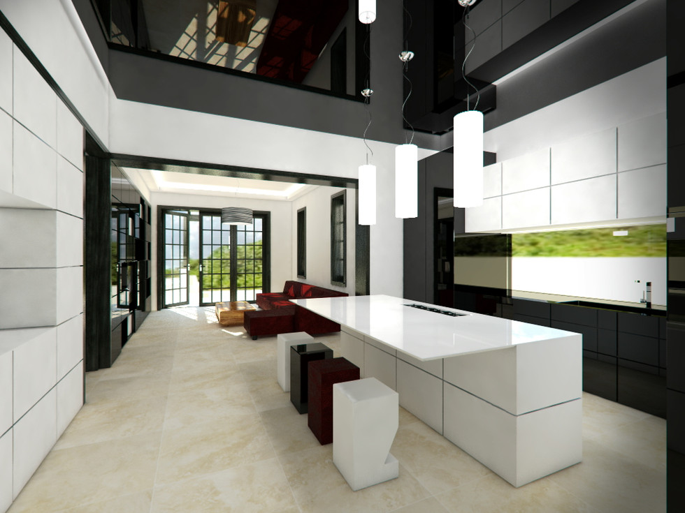 Sitting room connected to the kitchen | by CADFACE