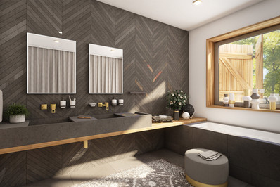 Lux bathroom in a holiday cottage   by CADFACE