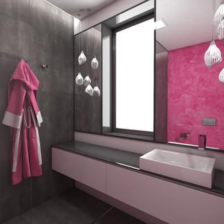 Teenage girl's en-suite bathroom   by CADFACE